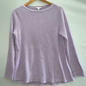 J Jill boat neck cabled sweater tunic